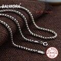 BALMORA Ретро 100% Чистая Настоящее Стерлингового Серебра 925 Цепи Ожерелья для Женщин Мужчин Ювелирных Украшений Оптом Аксессуары Bijoux CK0057