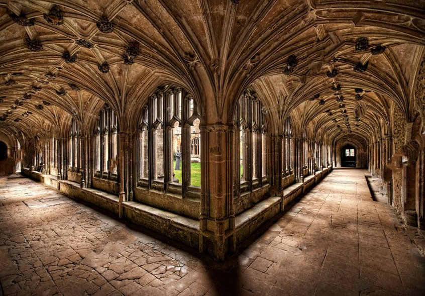 Lacock Cloisters Hallway Column Hogwarts Photo Backdrop High