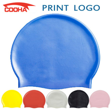Professional Men Women Waterproof Silicone Swimming Caps Silica Gel Pool Swim Caps Hat Cover, can print the picture you send