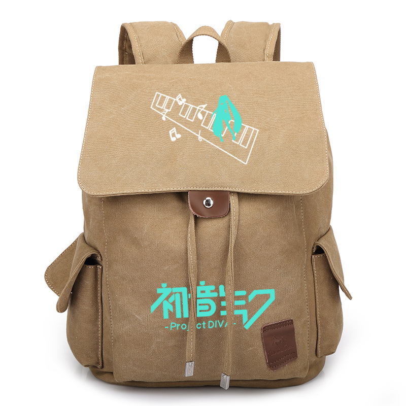 Japan Anime Hatsune Miku Vocaloid Cosplay Bag Backpack Travel Canvas Book School Men Women Boy Girls Bag Gift gravity falls backpack cosplay print men women bag school bag travel bag
