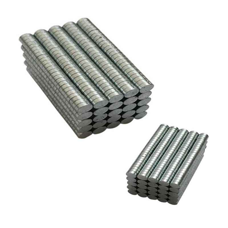 200 100pcs/set Round Neodymium Disc Magnets Dia 3mm x 1mm N50 Super Powerful Strong Rare Earth Ndfeb Magnet