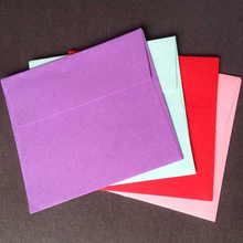 10 Pcs /Lot New Color Cute Square Solid Mini Gift Envelope Stationery