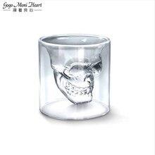 Vodka Whisky Beer Tea Glass Cup Wine Coffee Mug Doomed Skull Head Shot Shape for Party Bar Drinkware
