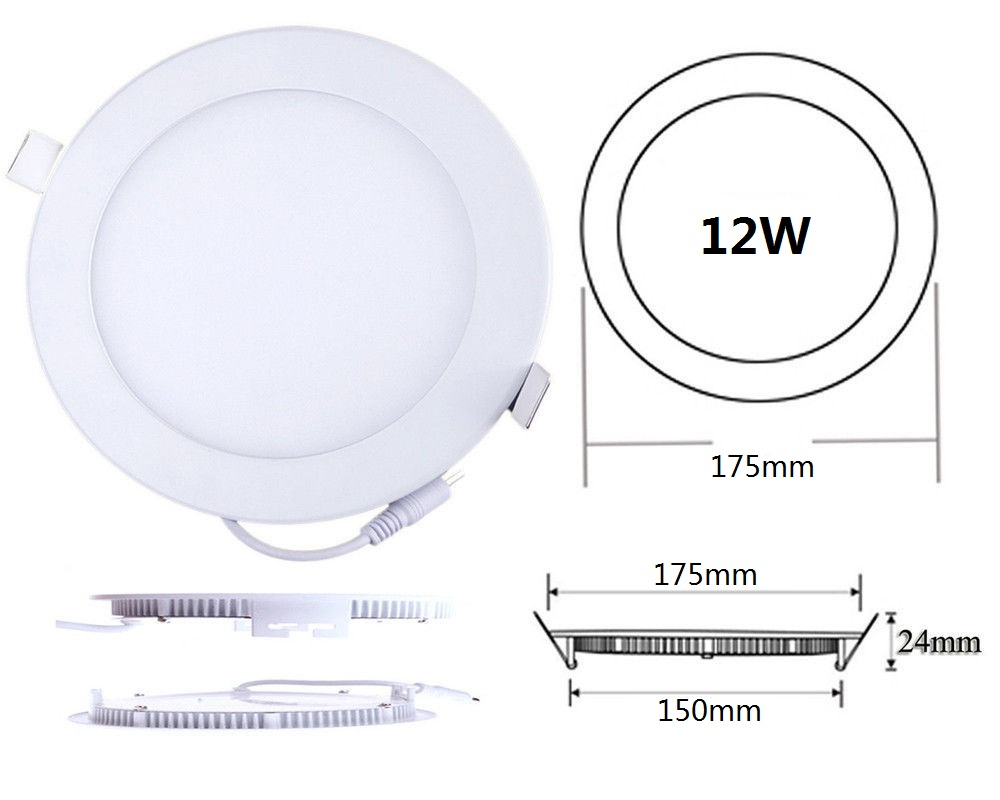 12w Ultra Thin Panel Light Recessed Led Ceiling Light