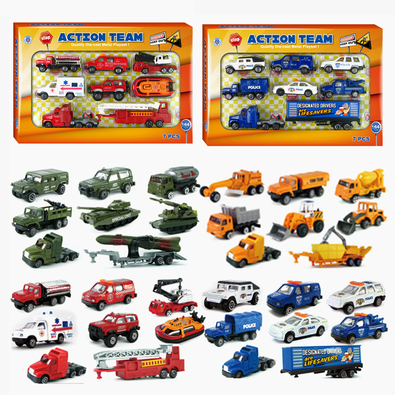 New 4 Style Cars Toy Diecast Car Models For Boy Alloy Crane Cheap High Quality China