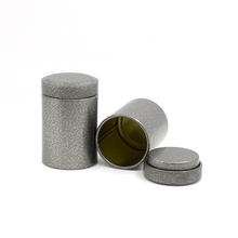 Xin Jia Yi Packaging Tin Box Black Small Round Metal Eco-Friendly Decorative Cookie Cylinder Storage Wedding Favor Iorn Mini Can xin jia yi packaging square small tin box matcha mini tin can manufacturer coffee cookie square metal box package with lid