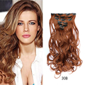 7 Pieces/lot Europe and A1merica Hair Extension of synthetic hair Style Wavy hair  silk curtain 100% high temperature  20 inches