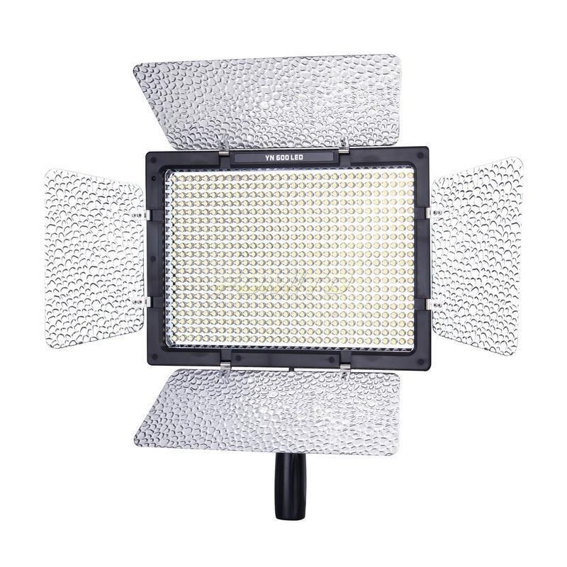 <font><b>YONGNUO</b></font> <font><b>YN600</b></font> YN-600C LED 5500k Color Temperature Adjustable 600 LEDs Video Light YN-600 image