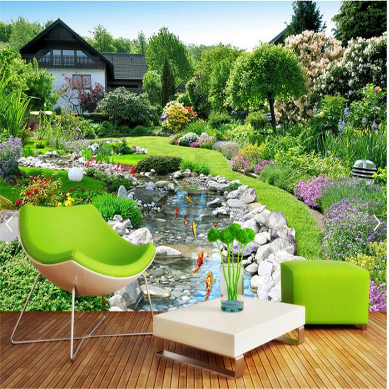 Beibehang 3d Custom Photo Wallpaper Wall Murals Wall Stickers Back Garden  Landscape Wall Background Painting Papel De Parede