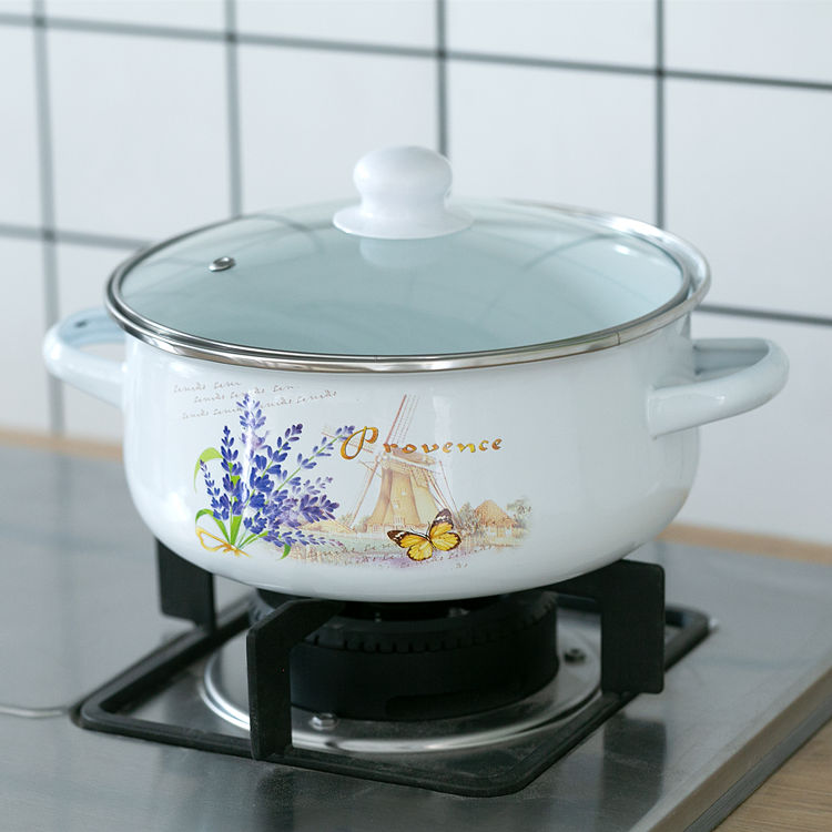 Old Fashioned Stove: Old Fashioned 22CM Thick Enamel Milk Pot Cooker Stove Gas