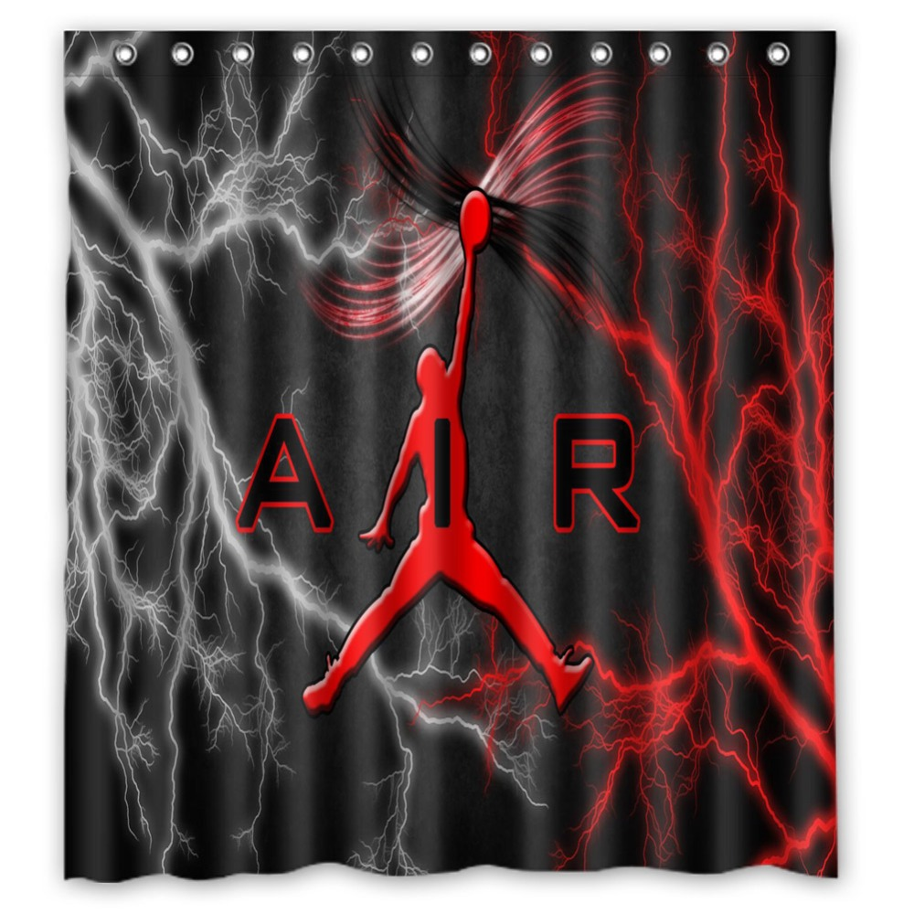 Polyester Fabric Bathroom Curtain 66x72 Inch Vixm Shower Curtains michael jordan