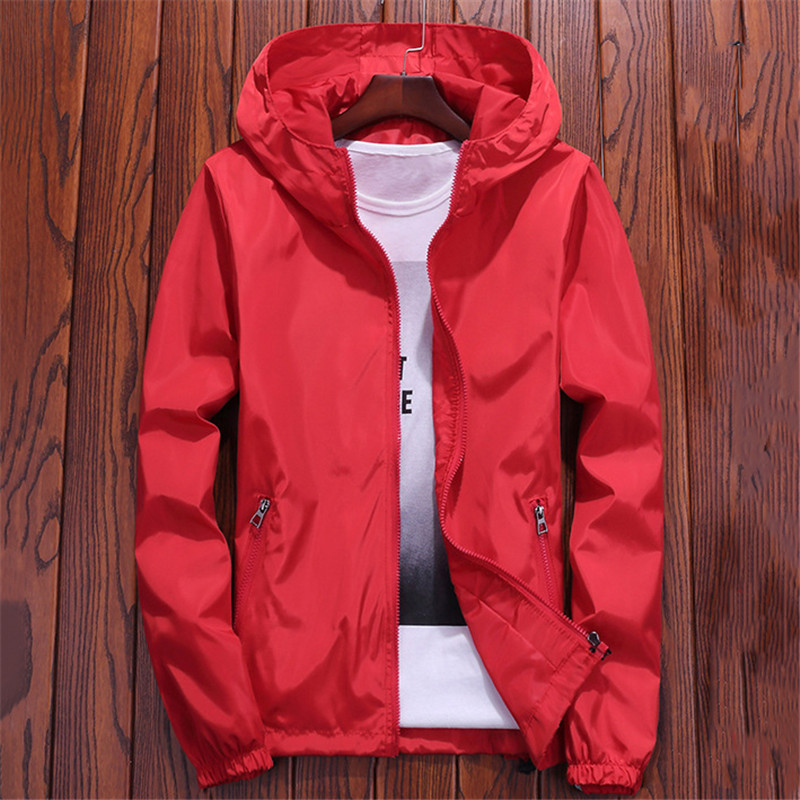 2019 New Spring Summer Thin Jacket Korean Short Slim Women Men Lovers Loose S-7XL Plus Size Hooded Coat Zip Pockets Jackets LR22