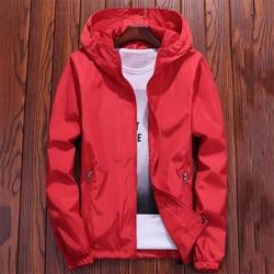 Kurtka kobiety czerwony 7 kolory 7XL Plus Size luźne z kapturem wodoodporny płaszcz 2019 nowa jesienna moda pani mężczyźni para Chic odzież LR22 1