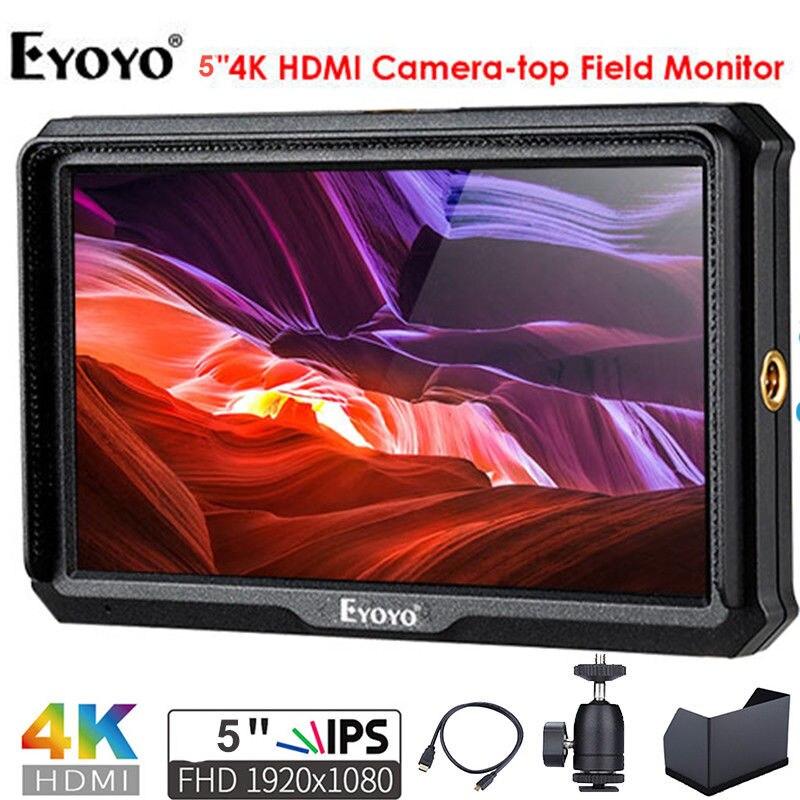 Eyoyo A5 5 Inch Utra Slim IPS Full HD 1920x1080 4K HDMI On-camera Video Field Monitor for Canon Nikon Sony DSLR Camera Video