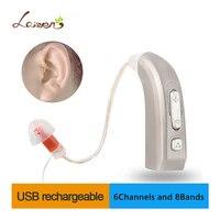 E37 новые Перезаряжаемые слуховой аппарат Auidphones микрофонный усилитель до глубокой глухих слуховые аппараты влево/вправо уха