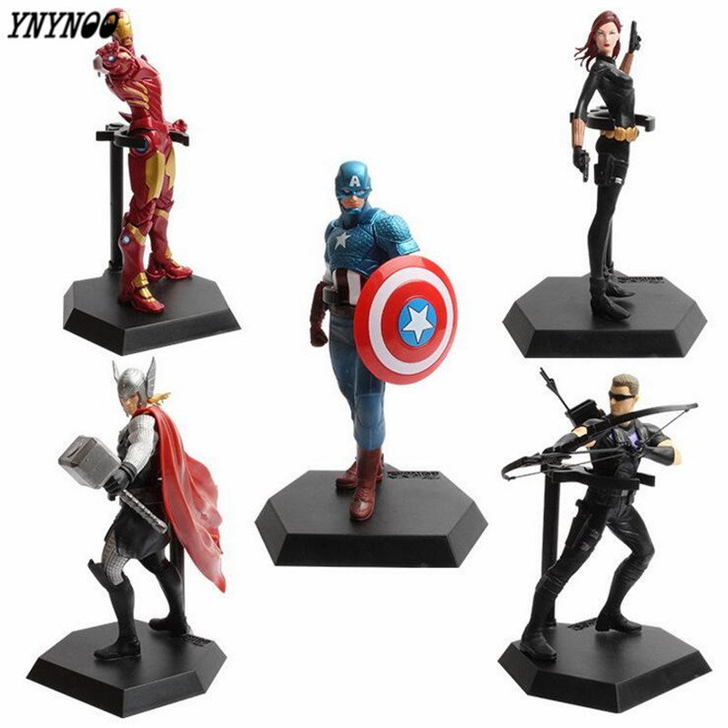 YNYNOO Marvel Legends Civil War Captain America Black Panther Vision Falcon Iron Man Batman Raythe on PVC Action Figure toy P558 marvel captain america civil war iron man action figure collectible model toy