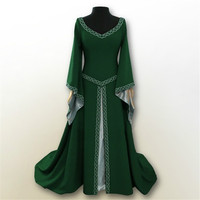 cosplay Medieval Vintage Victorian Ball Gown Renaissance Wench Gothic Princess Dress Ball Gown Vampire Theatre purim Costume