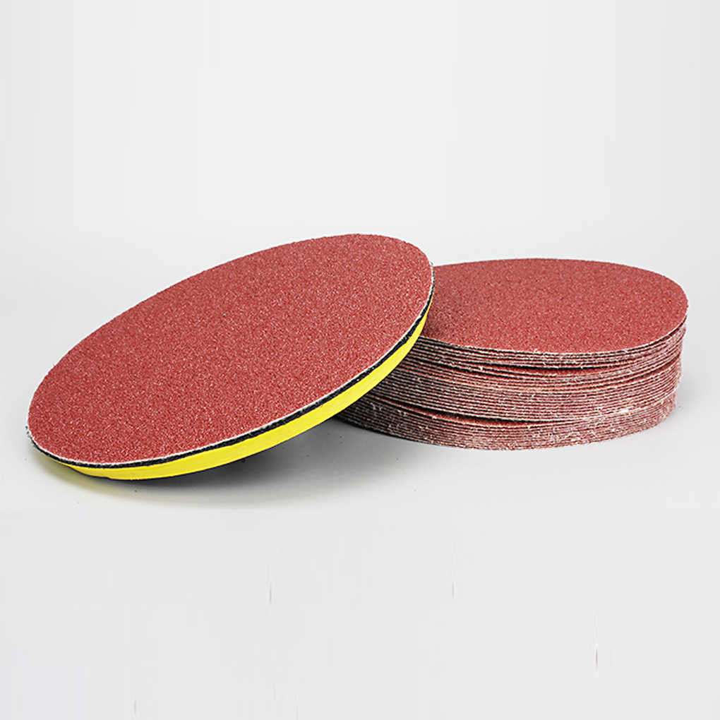 10pcs Polishing Grinding Tools 100mm Round Polishing Red Sandpaper For Metal Abrasive Tools