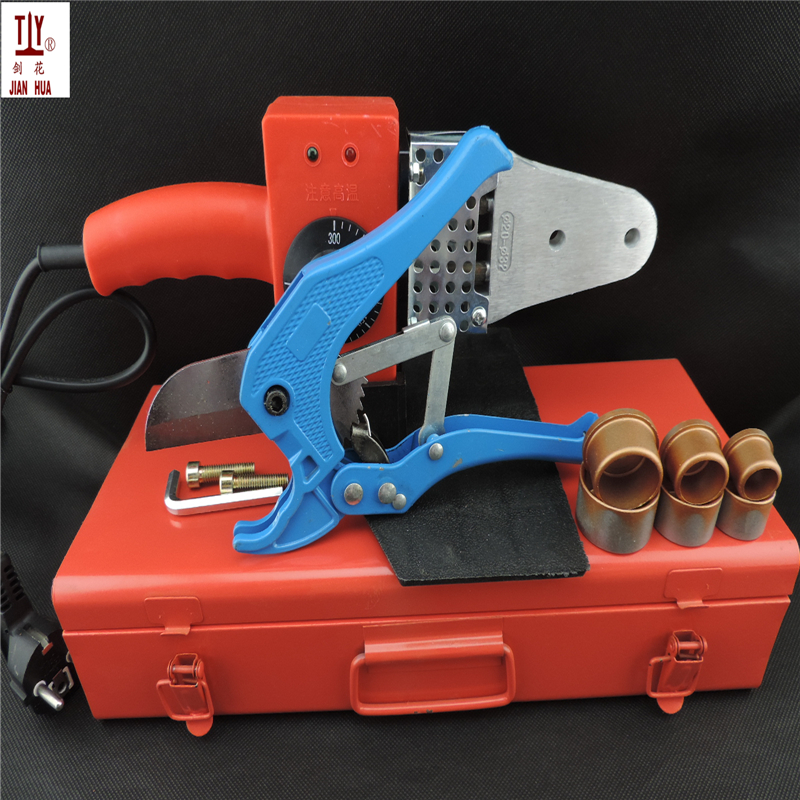 Free Shipping 20-32mm With Metal Box And 42mm Cutter PPR Welding Machine 600W Temperature Controled ppr-plastic pipe welder
