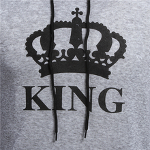 King & Queen Crown Print Unisex Hoodies