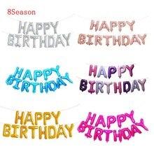 8Season 16inch Letter Happy Birthday Aluminum Balloons Wedding decoration Air Kids birthday party decorations adult