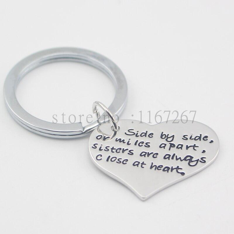 Baynne 2Pcs Couples Lovers Metal Keychain Keyring