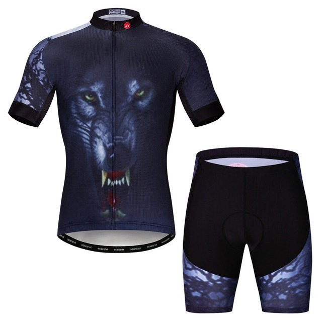 2019 Summer Wolf Cycling Jersey Sets Men MTB Bike Clothing Racing Bicycle  Clothes Maillot Ropa Ciclismo Downhill Padded Shorts bba45c6ae