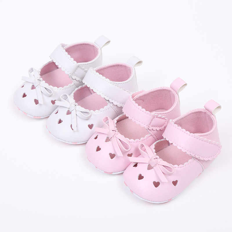 ARLONEET 2019 Newest Arrival Newborn Infant Baby Girls Crib Shoes Soft Sole Anti-slip Sneakers Bowknot Shoes N04