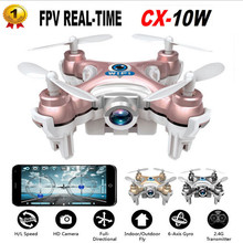 Cheerson CX-10W CX10W RC Quadcopter Wifi FPV Camera 3D Flip 4CH CX10 Update Version Mini Drone Hobby Mobile Control Helicopter