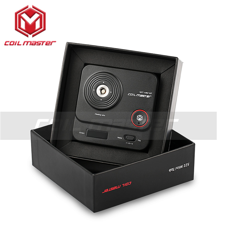 100% Original Spule Master 521 mini V2 Neue Version Von Spule Master 521 mini Tab Für Elektronische Zigaretten 510 Gewinde RDTA RDA RTA
