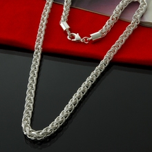 4MM chains necklaces mens jewelry Wholesale fashion 925 sterling silver necklace Free Shipping christmas gifts