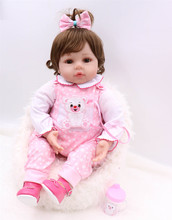 22inch 55cm Lifelike Baby Doll Bebe Reborn Babies Silicone Doll Reborn Adorable Lifelike Toddler Kids Toys Juguetes Brinquedos цена