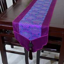teaside Table Runner new upscale Chinese silk brocade Jade jade pointed head table Coffee runner end