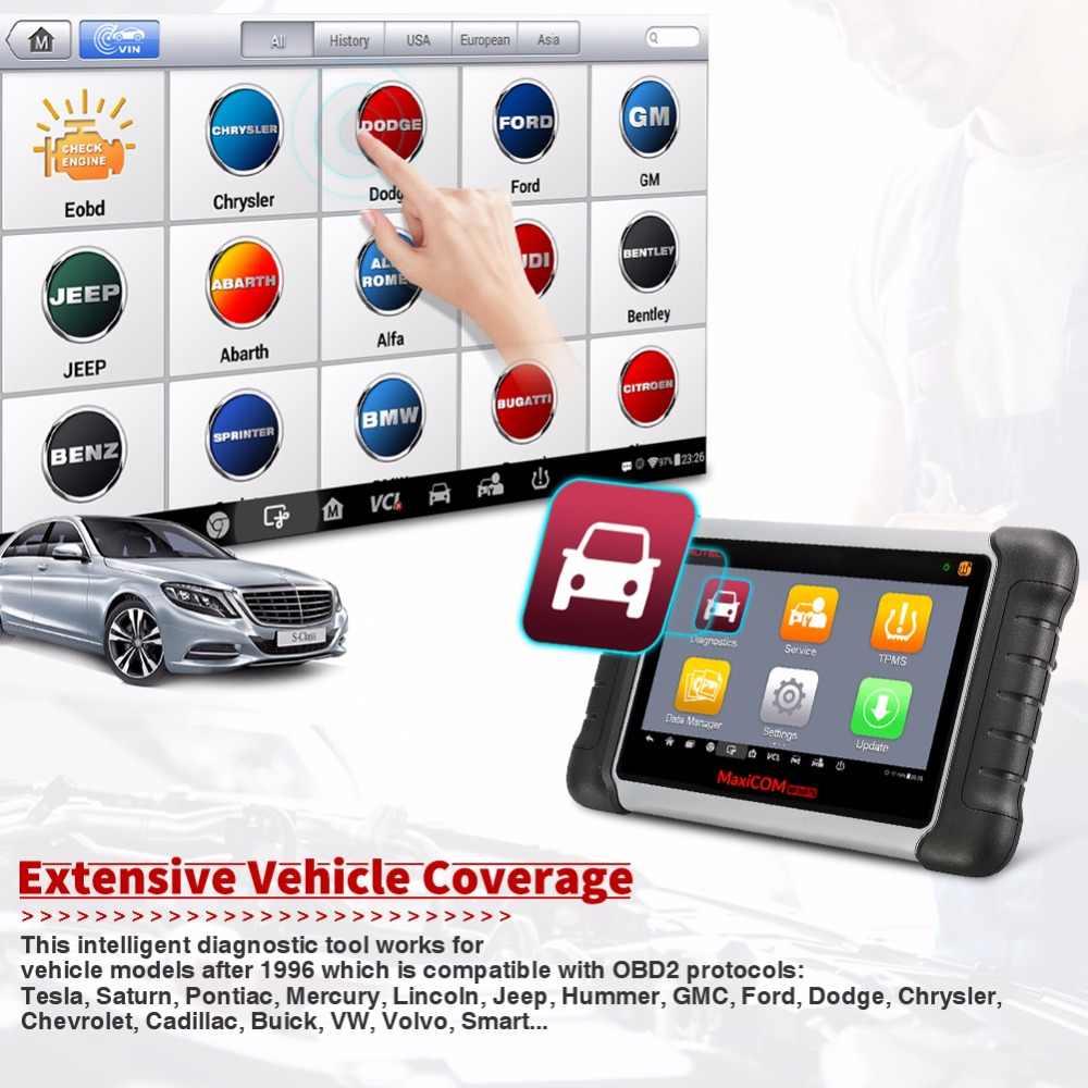 Autel MaxiCOM MK808TS Automotive OBD2 Diagnostic Tool Auto Scanner TPMS Service Programmering Sensor en Bluetooth PK MK808 MS906TS
