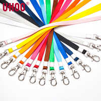 100 pcs UHOO 6741 10mm Lobster Lanyard for ID Card Holder Exhibition Card Buss Card Name Badge Holder Neck Suspension Cord Rope