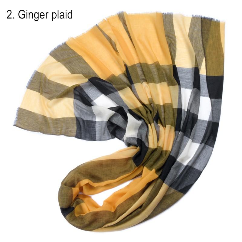 2. Ginger plaid