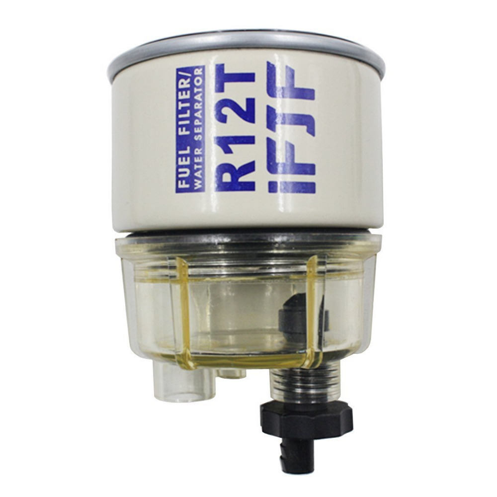R12T Fuel Filter/Water Separator 120AT NPT ZG1/4-19 Automotive Replacement Filter and Nylon Collection Bowl Replacement ElementR12T Fuel Filter/Water Separator 120AT NPT ZG1/4-19 Automotive Replacement Filter and Nylon Collection Bowl Replacement Element