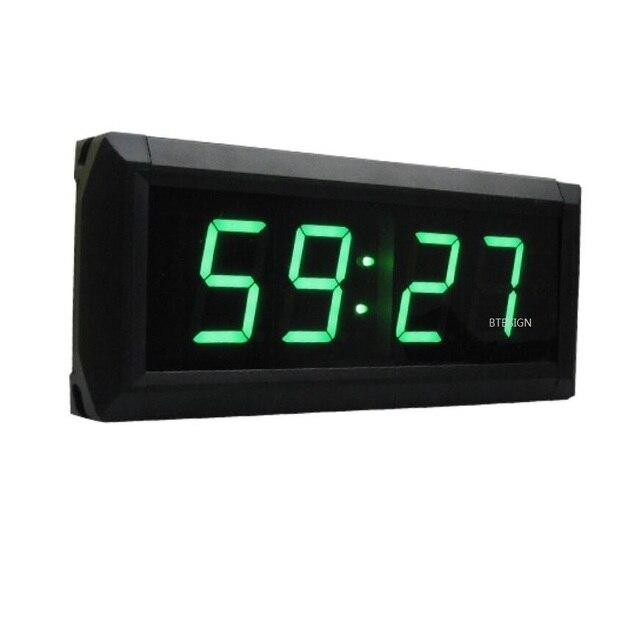 Vert Couleur 1.8 pouces 4 Chiffres LED Horloge Murale Numérique ...