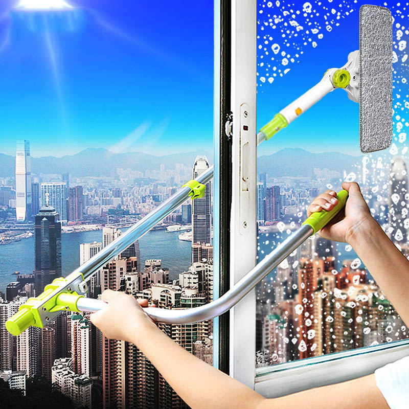 2018 Cheap Telescopic High-rise Window Cleaning Glass Cleaner Brush Upgraded For Washing Window Dust Brush Clean Windows Hobot