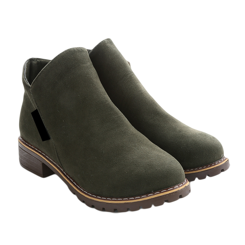 Chaud Hiver Cheville brown Daim red Martin Hot En Zipper army Bottes Classique Automne Neige 3540 Black Dames Femmes Cuir Green Solide Européenne Chaussures HYDe29IWEb