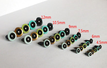 4.5-12mm mixed size mixed color pearl color round pupil toy safety eyes with Metal washer