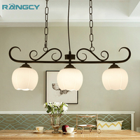 2018 NEW Pattern American Country Style Art Pendant Light Retro Hanging Lamp Black LED Bulb for Dining Room Living AC100 265V
