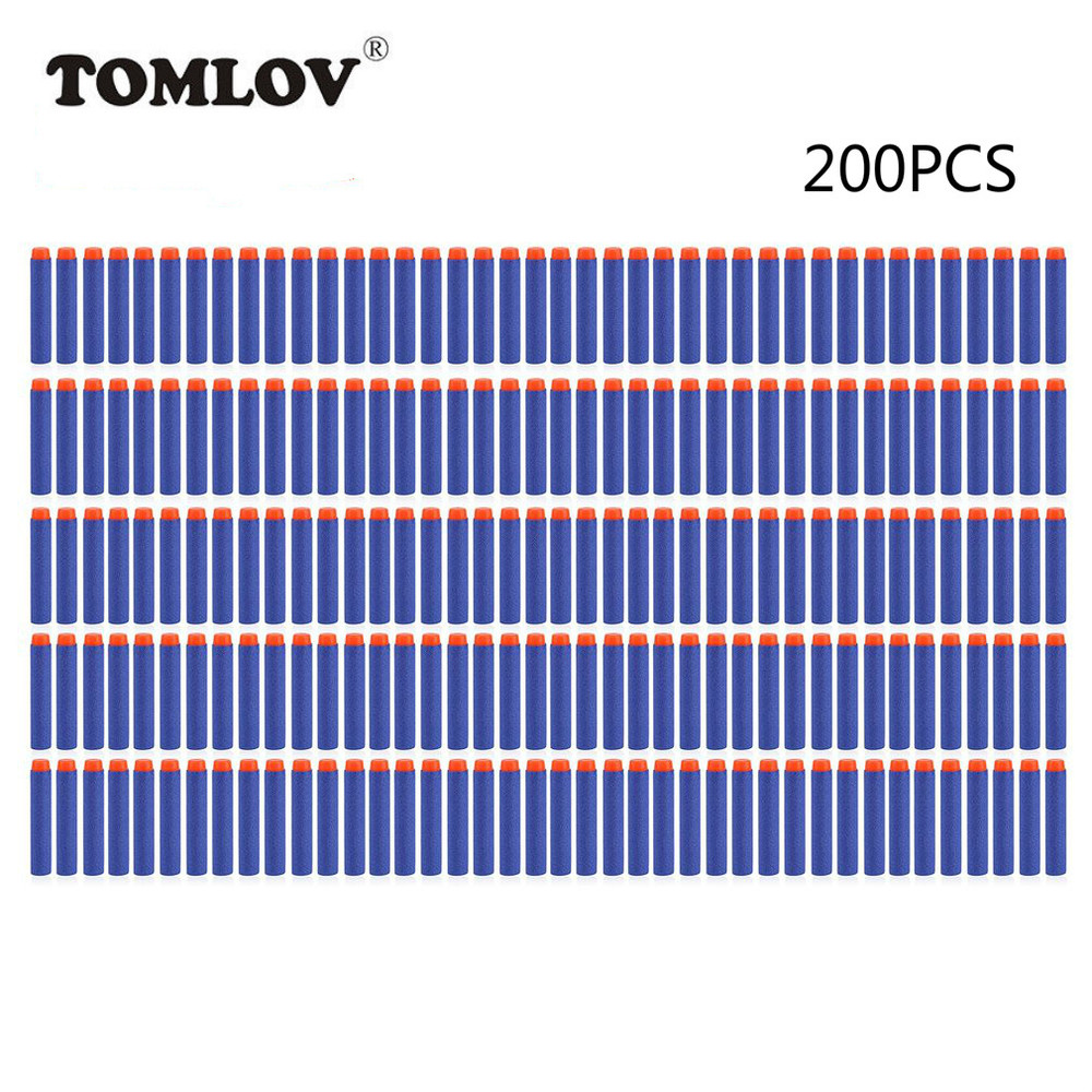 TOMLOV 200PCS Soft Gun Air Gun Bullets Darts EVA Solid Bullet Darts For NERF N-Strike Series