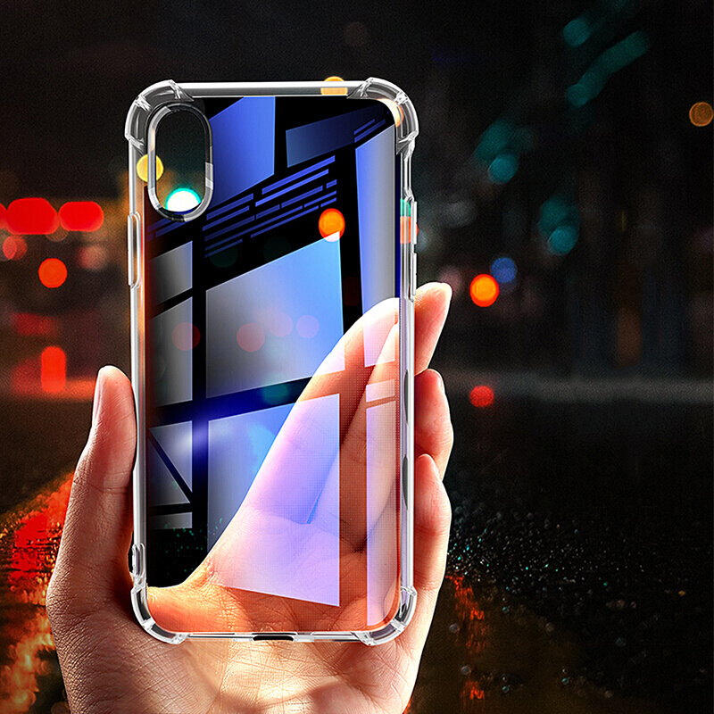 For Iphone 6 Case Soft TPU Iphone X 7 8 Plus XR Xs Xs Max Transparent Phone Protective Back Cover For Apple 5 SE Shell