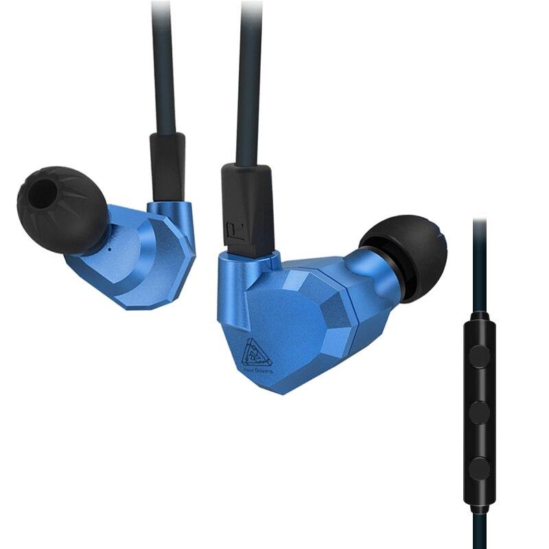 KZ ZS5 moniteur bricolage bouchon d'oreille 3.5mm casque d'entraînement sport en cours d'exécution dans l'oreille écouteurs Base écouteurs HIFI dynamique hybride avec Microphone - 3