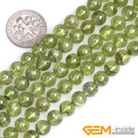 7mm 8mm Round Green Natural Peridot Quartzs Stone Semi Precious Beads DIY Loose Beads For Jewelry