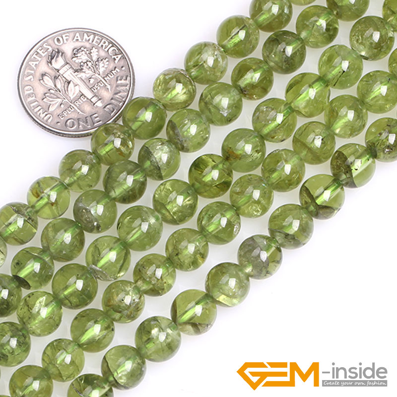 цена 7mm 8mm Round Green Natural Peridot Quartzs Stone Semi Precious Beads DIY Loose Beads For Jewelry Making Strand 15