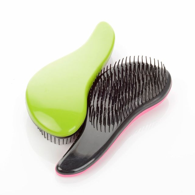1pc Glitter Magic Handle Tangle Detangling Comb for Hair Shower Hair Brush Salon Styling Tamer Tool Travel Accessories Comb 4