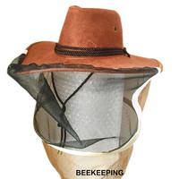 Free Shipping 2015 New Export Oriented Beekeeping Tool Model Cowboy Bee Preventing Cap Bee Hat