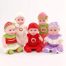 Muñecas con gorro y vestido de punto